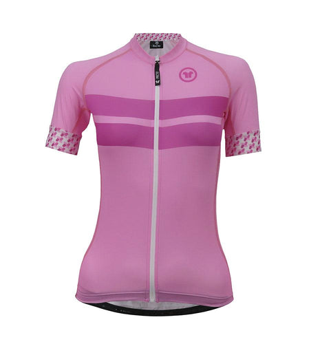 Pacto Womens Pink Laser Short Sleeve Jersey Jerseys Pacto