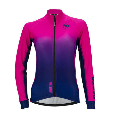 Pacto Womens Senhora-Blue Laser Long Sleeve Jersey Long Sleeve Jerseys Pacto