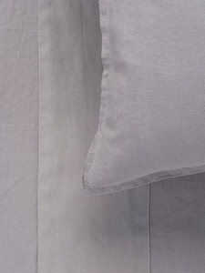 Mondo 100% French Linen Duvet Cover Set - Smoke