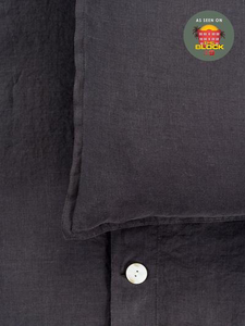 Mondo 100% French Linen Duvet Cover Set - Charcoal