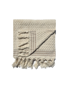 Classic Cream Zigzag Boucle Bath Towel