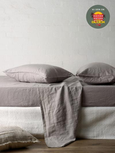 Load image into Gallery viewer, Mondo 100% French Linen Sheet Set - Smoke