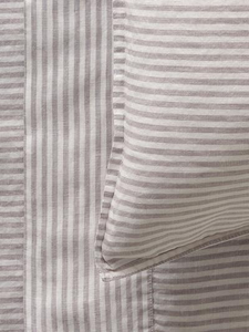 Mondo 100% French Linen Duvet Cover Set - Stripe
