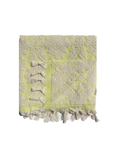 Lime Boucle Bath Towel