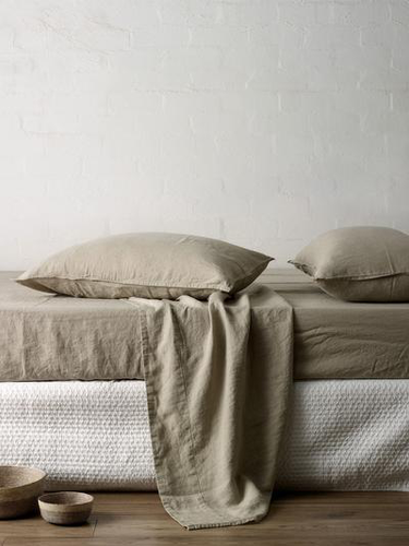 Mondo 100% French Linen Sheet Set - Natural