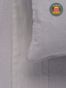 Mondo 100% French Linen Sheet Set - Smoke