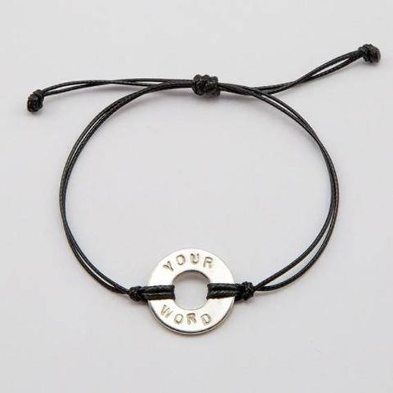 Personalized hand-stamped simple bracelet - in English or Japanese (hiragana)