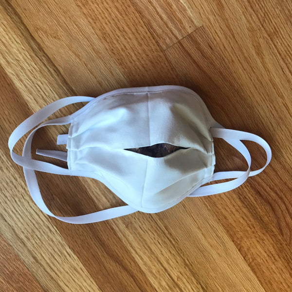 Option E:  Handmade face mask with filter pocket and sturdy and flexible full length nose piece