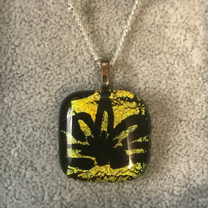Fused glass pendant/necklace - 013