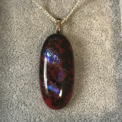 Fused glass pendant/necklace - 014