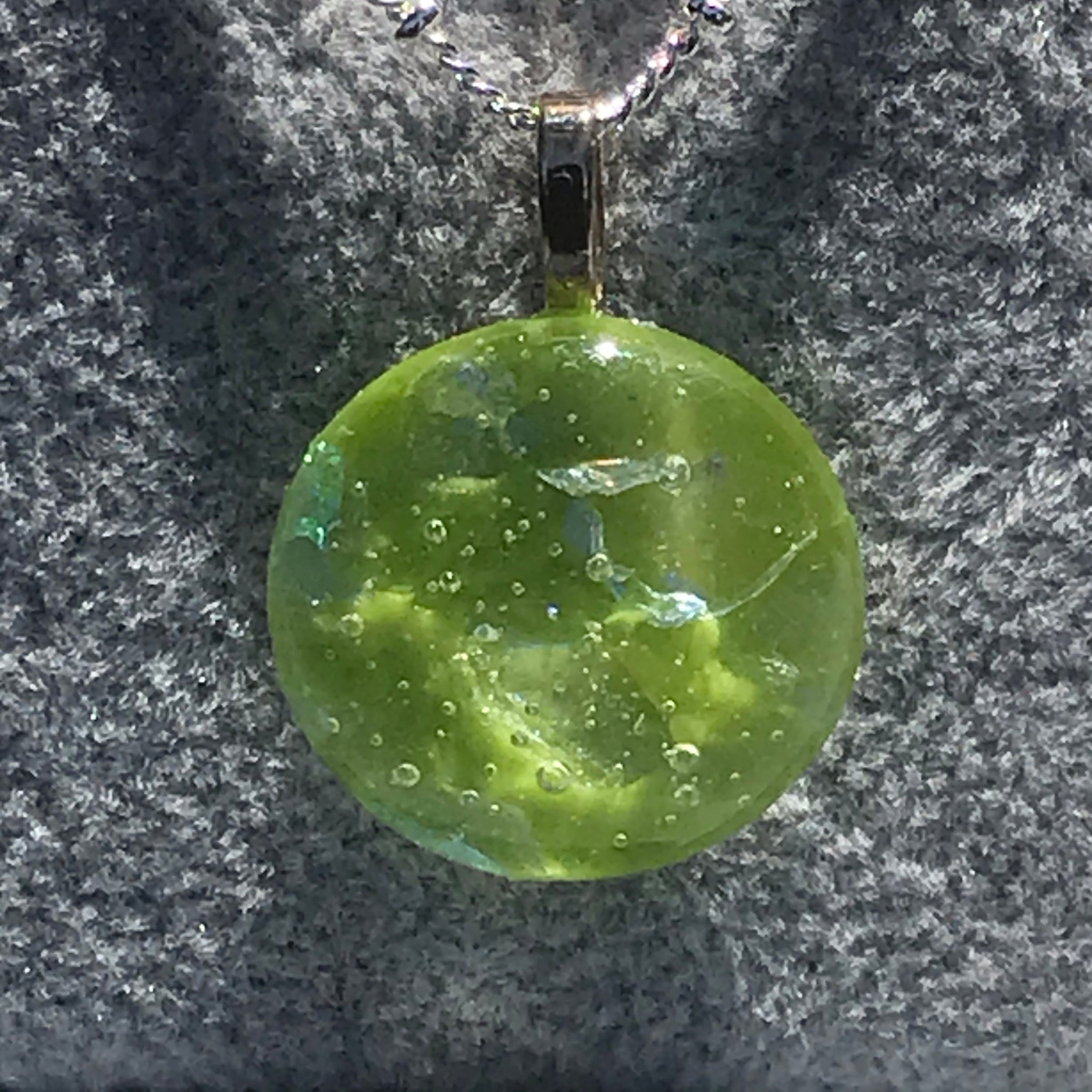 Fused glass pendant/necklace - 003