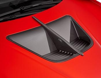 Carbon bonnet vent with middle strut