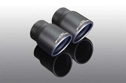 "Exhaust tailpipe set ""Sport black"" for 118d, 120d, 120d xDrive (NYHET("