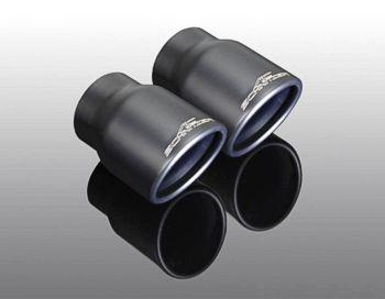 "Exhaust tailpipe set ""Sport black""for xDrive 20d, 25d, 30d for sDrive 20i for xDrive 20i, 30i"