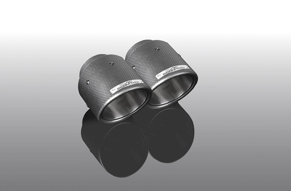 "Exhaust tailpipe set ""Carbon Sport"" for xDrive 20d, 25d, 30d for sDrive 20i for xDrive 20i, 30i"