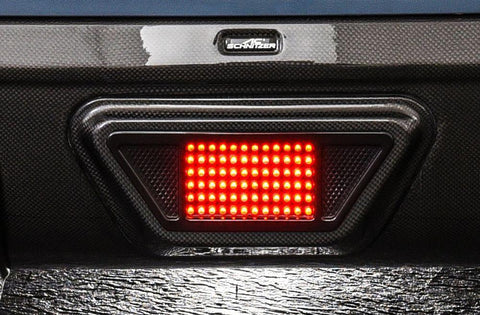 Additional brake light for carbon rear diffuser