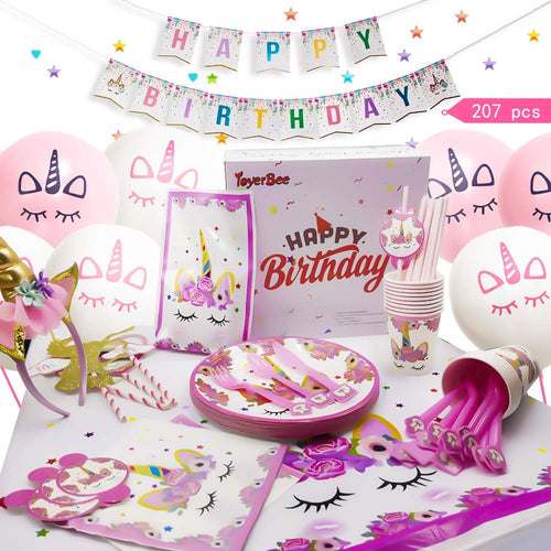 207-piece Unicorn Party Decoration Supplies