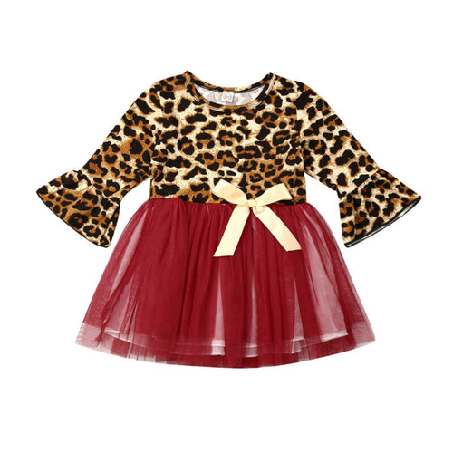 Baby Toddler Leopard Print Tutu Dress