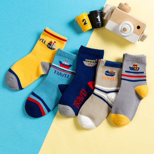 5-pair Cotton Socks