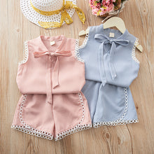 Load image into Gallery viewer, Kids 2pcs Tops and Shorts Sets
