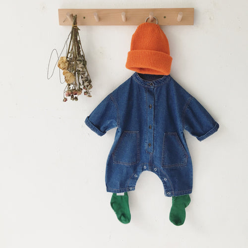 Baby Denim Long Sleeve Overalls Outerwear
