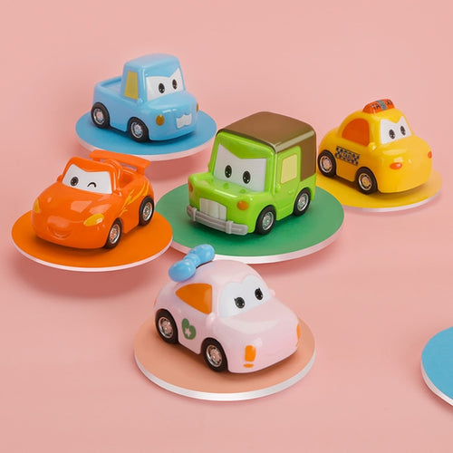Mini Cartoon 5 in 1 Set Pull Back Car Toys