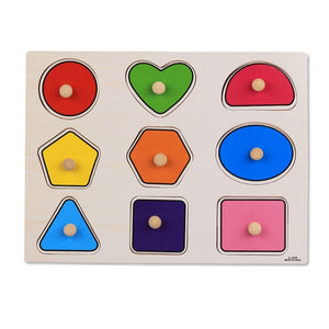 Baby Educational Wooden Puzzle/Hand Grab Board Set Toy
