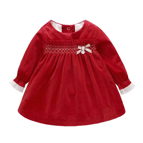 Baby Girls Cotton Long Sleeves Dress