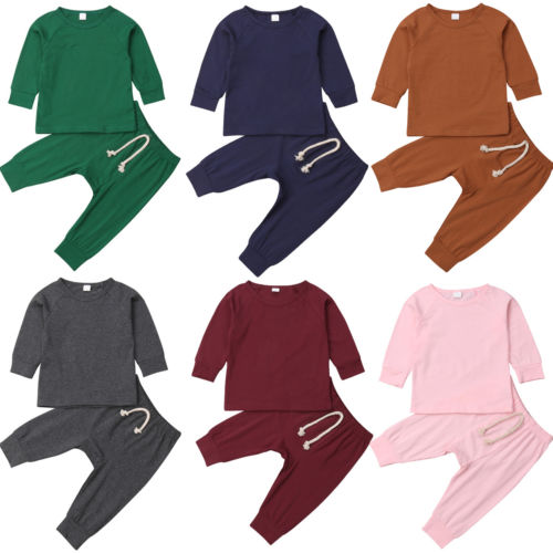 Baby Cotton Tops and Pants Sets