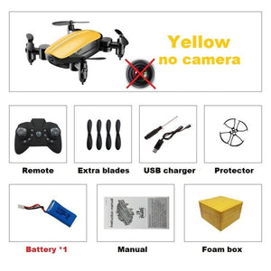 Foldable RC Mini Drone with Camera HD
