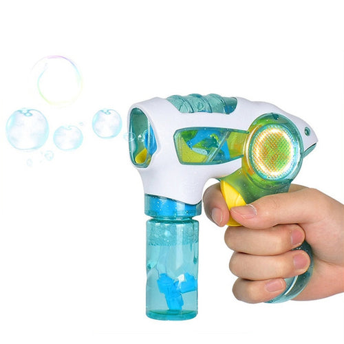 Kids Flashing Water Blowing Bubble gun