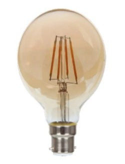 5W BC/B22d LED Globe 80mm Gold Tinted Dimmable