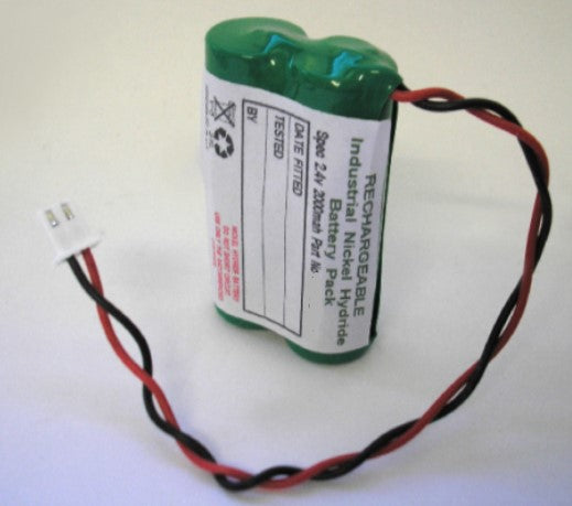 BSS2-2.3AH-AA-NIMH 2.4V 2.3AH AA Slim Side By Side Battery C/W Flying Leads