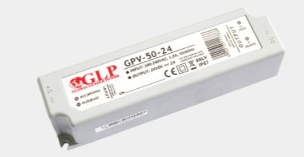 GLP GPV-50-24 48W 24V/2A IP67 LED Power Supply - LED  Spares