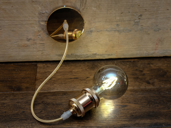 E27 Gold 1.2M Decorative Pendant - LED Spares