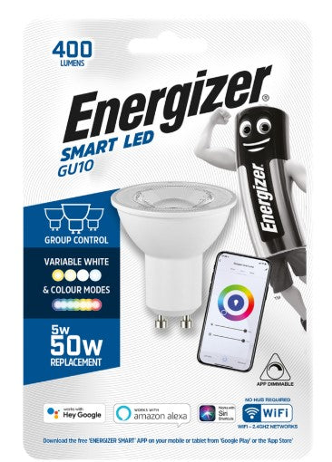 Energizer Smart GU10 5W Colour Changing Bulb - LED Spares
