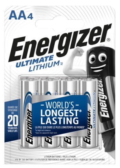 Energizer Ultimate Lithium AA LR6 Batteries - Blink Camera - LED Spares