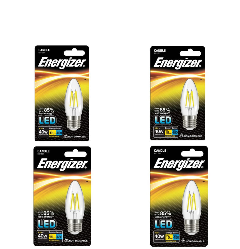 S9031 Energizer Filament LED Candle 4.2W ES (E27) Warm White - LED Spares
