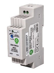 POS Power DIN15W12 15W 12V 1.25A Din Rail Power Supply - LED Spares