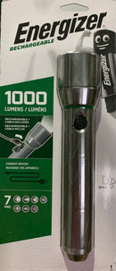 Energizer LED Vision HD Metal 1000lm Rechargeable Torch + USB Port IN / OUT S14674 - LED Spares