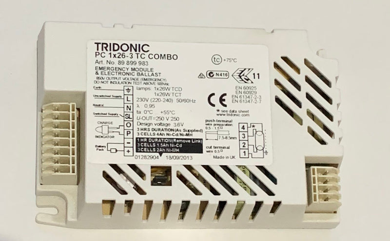 Tridonic - 89899983 - PC 1X26-3 TC COMBO - LED Spares