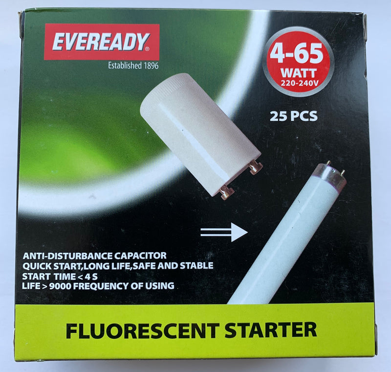 S1092 EVEREADY Fluorescent Starter Switch 4-65W Box of 25