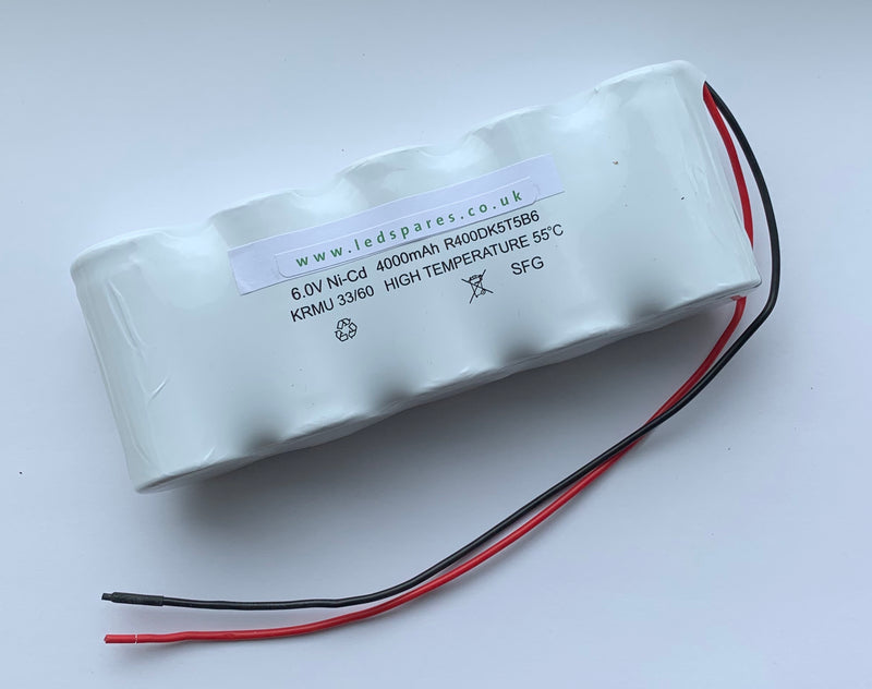 BSS5D-55 6V 4AH NICD SIDE BY SIDE BATTERY - LED Spares