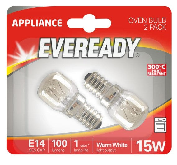 S1021 Eveready Oven Appliance Bulb 300 °C 15W SES (E14) Pigmy