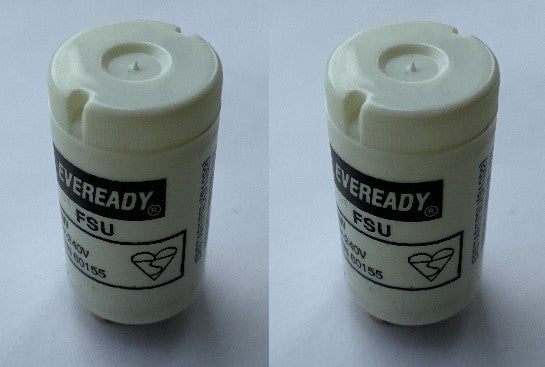 Pack of 2 x S1092 EVEREADY Fluorescent Starter Switch 4-65W