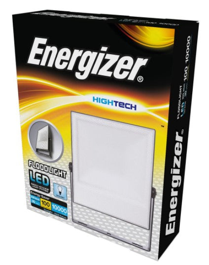 100W Energizer LED Hybrid Floodlight IP65 Anti-Glare Lens S14520 - LED Spares