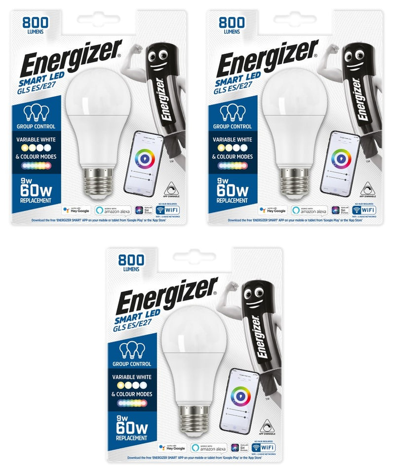 Energizer Smart E27 (ES) 9W Colour Changing Bulb -LED Spares
