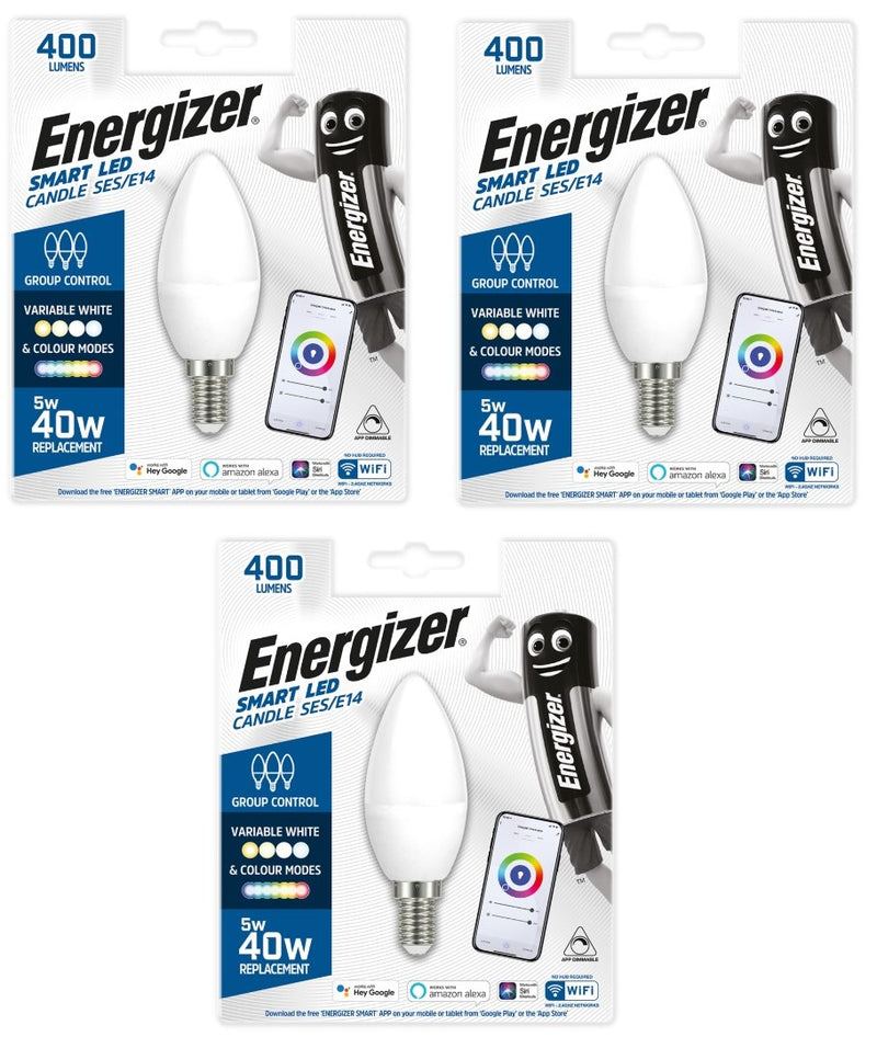 Energizer Smart E14 (SES) Candle 5W Colour Changing -LED Spares