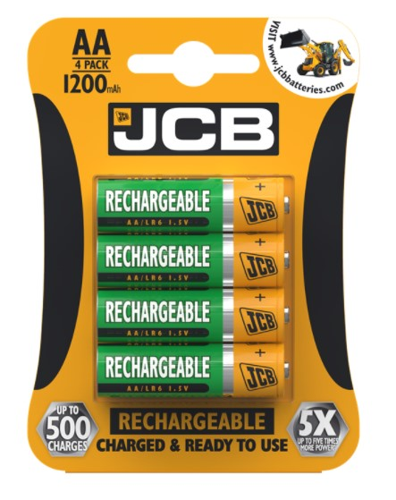 JCB AA Rechargeable Batteries 1200mAh