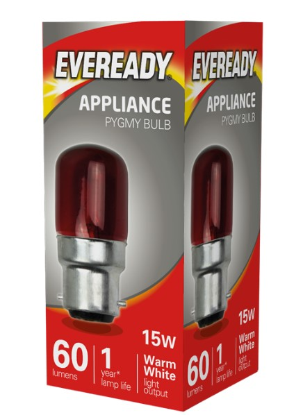 S5958. - Eveready 15W Red Pygmy B22 BC Bulb - LED Spares